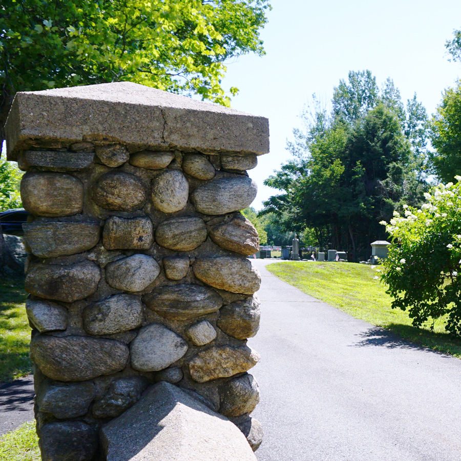Centerbrook Cemetery Old Stone Entrance